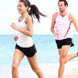 Running: couple runners — Foto Stock #22919848