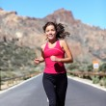 慢跑的女人 — 图库照片