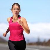 Runner - vrouw uitgevoerd — Stockfoto