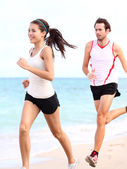 Running: couple runners — Stock Photo