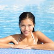 Woman beauty in pool — Stock Photo