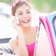 Vintage woman in car — Stock Photo #22921658