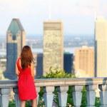 Montreal city woman — Stock Photo #22922242