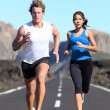 Stock Photo: Running couple