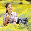 Hiking girl in spring — Stock Photo #22922348