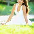 Summer or spring woman — Stock Photo