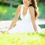 letní nebo jarní žena — Stock fotografie