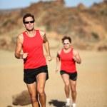 Runners running — Stock Photo