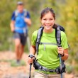 Hiker woman — Stock Photo