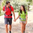 Couple hiking - Foto Stock