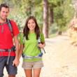 Stock Photo: Hikers couple portrait