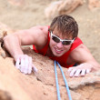 Climbing - male climber - Stock Photo