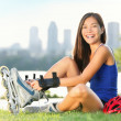 Roller skate girl skating — Stock Photo #22924440