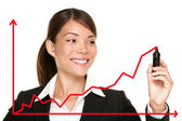 Business success growth chart — Stock Photo