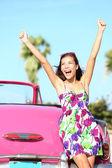 Summer vacation car road trip — Stock Photo