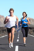 Running couple — Stock Photo