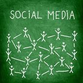 社交媒体 — 图库照片