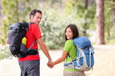 Hiking young couple — Stock Photo