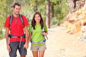 Hikers couple portrait — Stock Photo