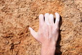 Climbing hand closeup — Stock Photo