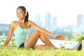 Stretching woman in outdoor exercise — Stock Photo