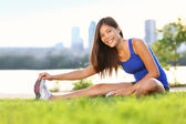Exercise woman stretching — Stock Photo