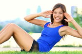 Exercise woman - sit ups workout — Foto Stock