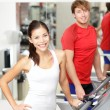 Fitness in gym — Stock Photo