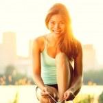 Woman running workout — Stock Photo