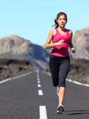 Jogging woman running — Stock Photo