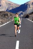 Running - male athlete running — Stock Photo