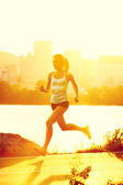 Runners - woman running — Stock Photo