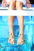 Fish Spa pedicure — Stock Photo