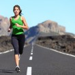 Runner woman running — Stock Photo