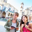 Tourists couple travel — Stock Photo
