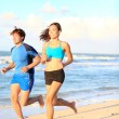 Sport couple running fitness — Stock Photo