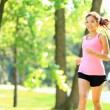 Runner - woman running in park — Stock Photo #24537537