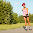 Roller skating girl in park — Stock Photo #24537549