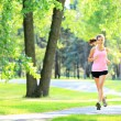 Stock Photo: Jogging woman running in park
