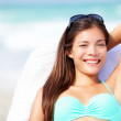 Vacation woman relaxing on sunbed — Stock Photo #24537957