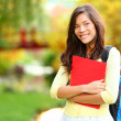 Asian student girl on campus — Stock Photo