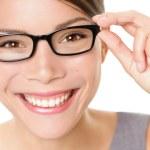 Eyewear glasses woman happy — Stock Photo