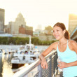 Woman city runner workout — Stock Photo
