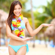 Hawaiian dance - hula dancer — Stock Photo