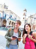 туристы пара путешествие — Стоковое фото