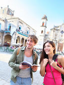 Tourists couple travel — Foto Stock