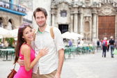 Cuba tourists in Havana — Stock Photo