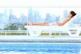 Urban luxury city lifestyle woman — Stock Photo