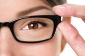 Okulary okulary zbliżenie — Zdjęcie stockowe