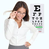 Optometrist, optician — Stock Photo
